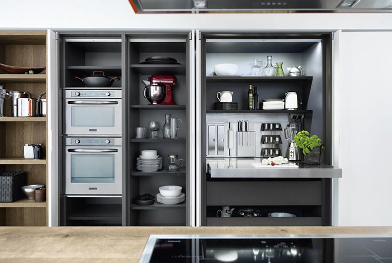Particolare di una cucina Cloe di Cesar, disponibile su Bassi Design