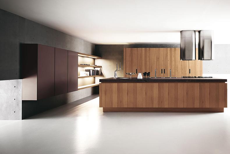 Cucina marrone completa, modello Yara di Cesar