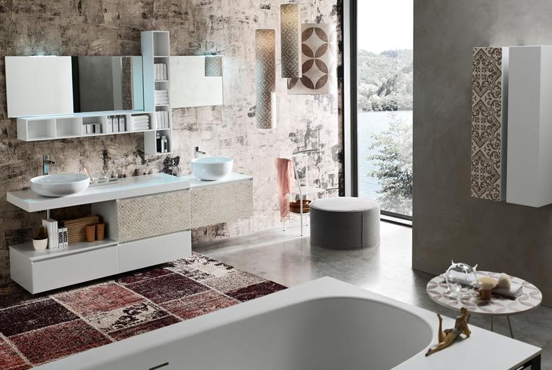 Bagno la fenice decor di arcom prodotto arredamento for Arcom bagno