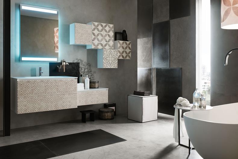 Bagno La Fenice Decor di Arcom - Prodotto arredamento - Bassi Design ...