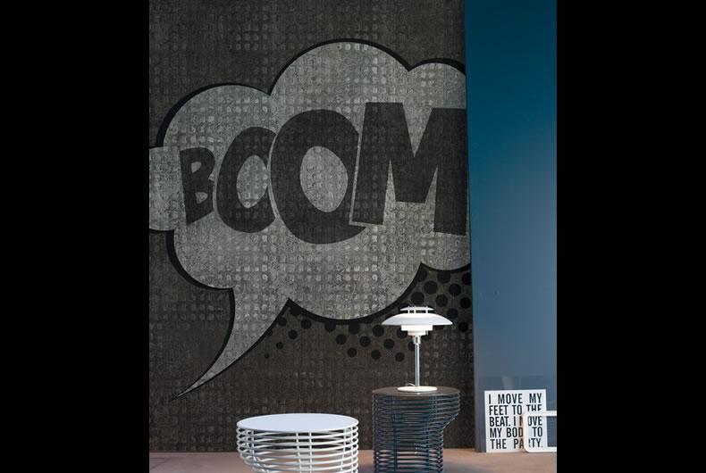 Carta da parati Boom Boom di Inkiostro Bianco