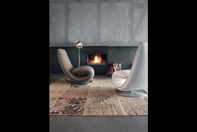 Poltrona ricciolo di tonin casa prodotto arredamento bassi design piacenza - Ricci casa piacenza ...