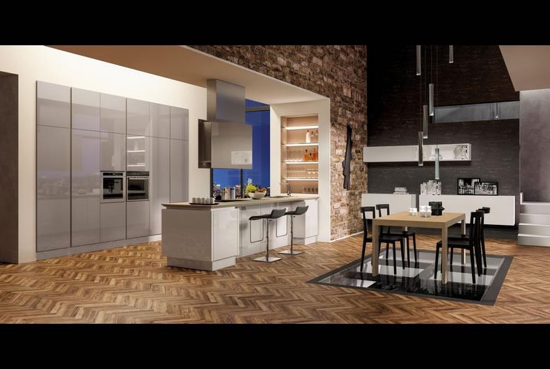 cucina-berloni-B50-Sahara-Biscotto - Bassi Design Piacenza