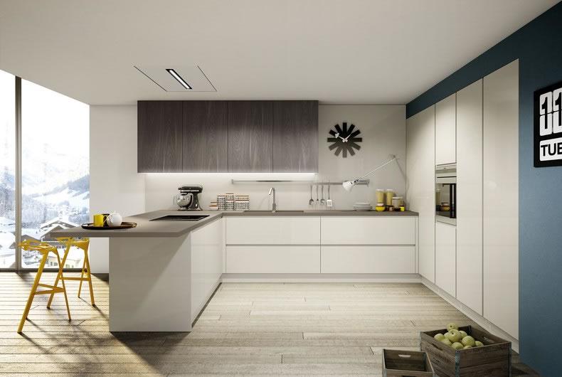 Cucina brera di berloni prodotto arredamento bassi for Arredamenti moderni cucine