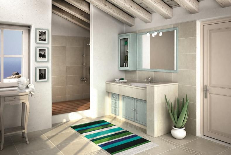 Bagno collezione i piastrellati di cerasa prodotto for Arredo bagno piacenza