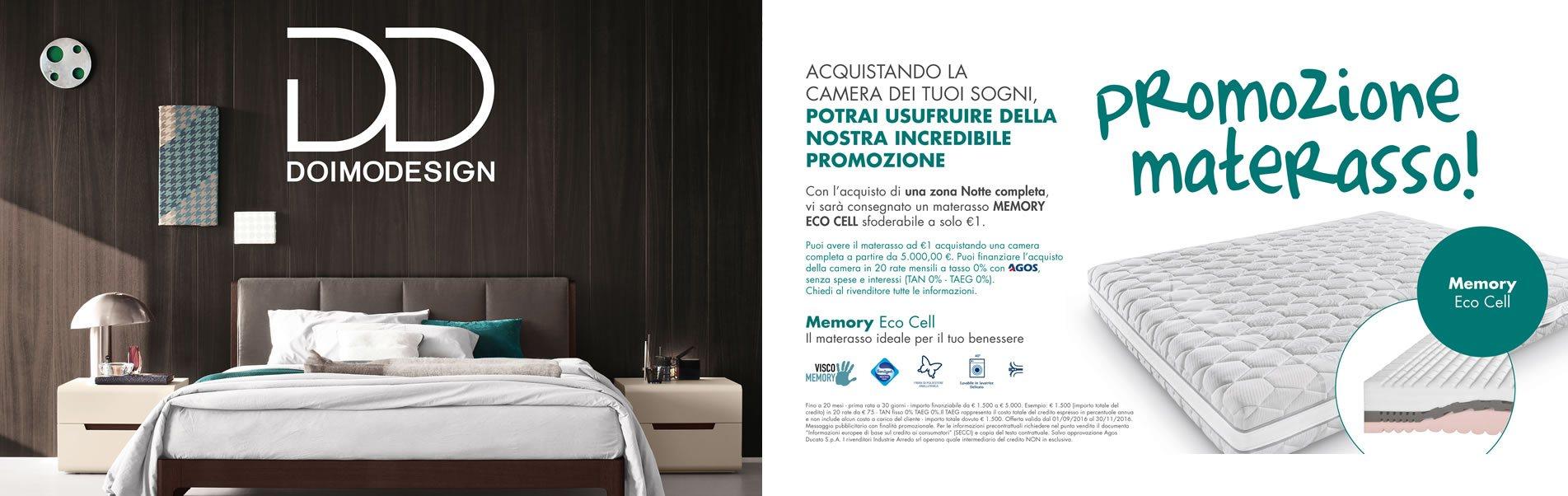 promozione bassi design: materasso memory eco cell gratis acquistando una zona notte
