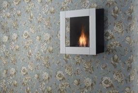 Biocamino A Parete Cube Di Bio Fireplace